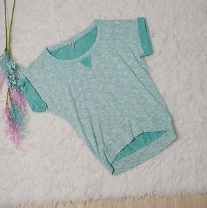 Splendid Aqua Slouchy Knit Top